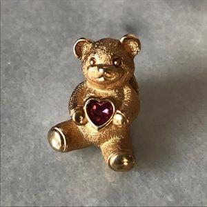 Avon Birthstone Bear Lapel Pin